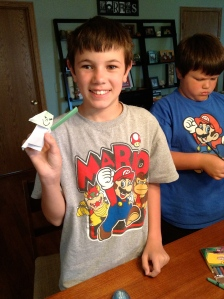 Thank you to my friend's sons, who are nicknamed String Bean and Squishy (not kidding) for their help in making the video, and their awesome Origami Yoda creations!